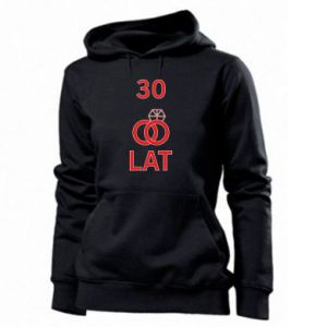 Women's hoodies Wedding 30 years - PrintSalon