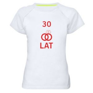 Women's sports t-shirt Wedding 30 years - PrintSalon
