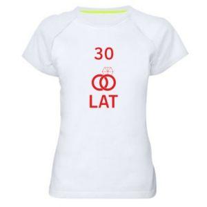 Koszulka sportowa damska Ślub 30 lat