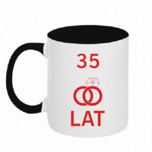 Two-toned mug Wedding 35 years - PrintSalon