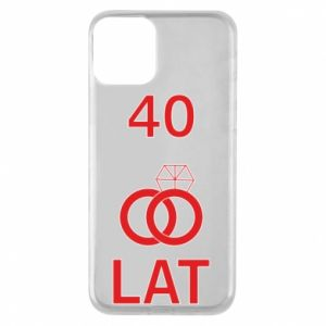 Phone case for iPhone 11 Wedding 40 years - PrintSalon