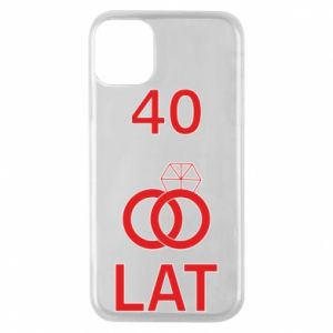 Phone case for iPhone 11 Pro Wedding 40 years - PrintSalon