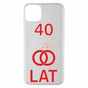 Phone case for iPhone 11 Pro Max Wedding 40 years - PrintSalon