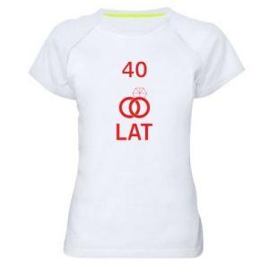 Damska koszulka sportowa Ślub 40 lat