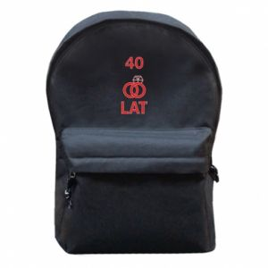 Backpack with front pocket Wedding 40 years - PrintSalon