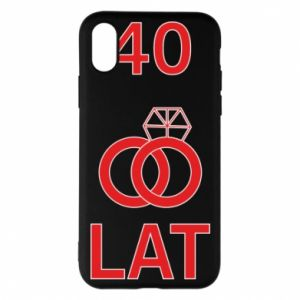 Phone case for iPhone X/Xs Wedding 40 years - PrintSalon