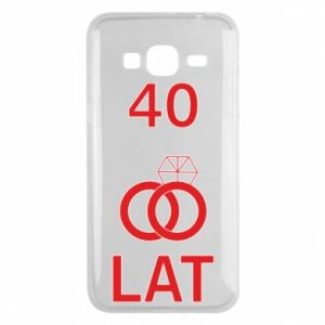 Phone case for Samsung J3 2016 Wedding 40 years