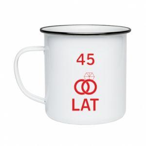 Enameled mug Wedding 45 years - PrintSalon