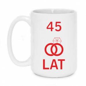 Mug 450ml Wedding 45 years - PrintSalon