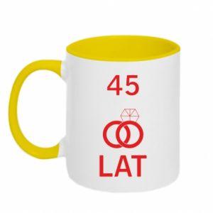 Two-toned mug Wedding 45 years - PrintSalon