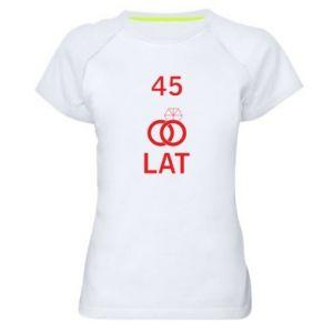 Women's sports t-shirt Wedding 45 years - PrintSalon