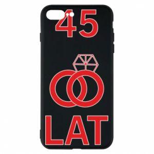 Phone case for iPhone 8 Plus Wedding 45 years - PrintSalon