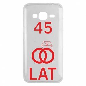 Phone case for Samsung J3 2016 Wedding 45 years - PrintSalon