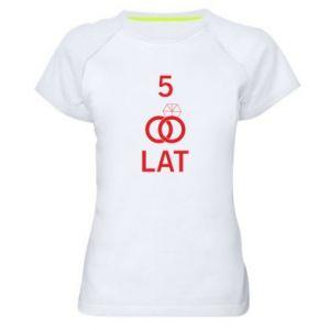 Koszulka sportowa damska Ślub 5 lat
