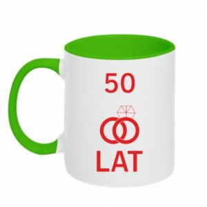 Two-toned mug Wedding 50 years - PrintSalon
