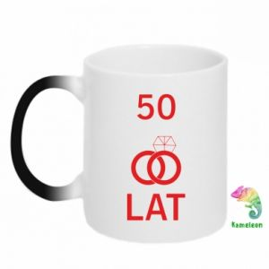 Chameleon mugs Wedding 50 years - PrintSalon