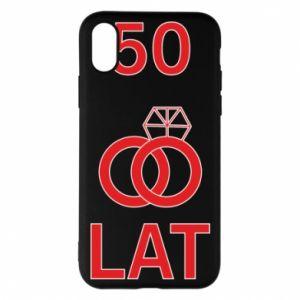 Phone case for iPhone X/Xs Wedding 50 years - PrintSalon