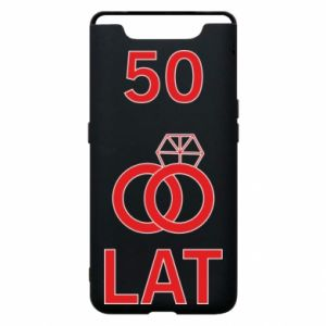 Phone case for Samsung A80 Wedding 50 years - PrintSalon