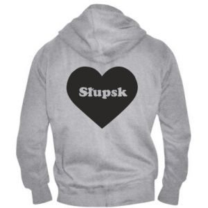 Męska bluza z kapturem na zamek Slupsk in heart - PrintSalon