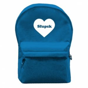 Backpack with front pocket Slupsk in heart
