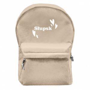Backpack with front pocket I love Slupsk!