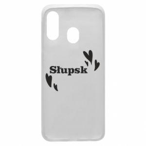 Phone case for Samsung A40 I love Slupsk!
