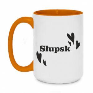 Two-toned mug 450ml I love Slupsk!