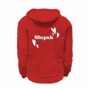 Kid's zipped hoodie % print% I love Slupsk!