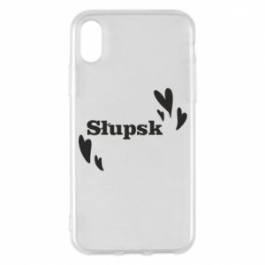 Phone case for iPhone X/Xs I love Slupsk!