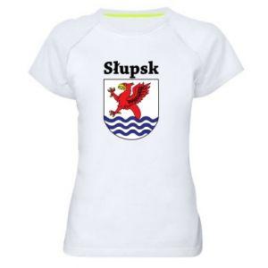 Damska koszulka sportowa Słupsk. Herb