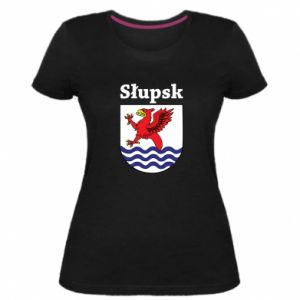 Damska premium koszulka Słupsk. Herb