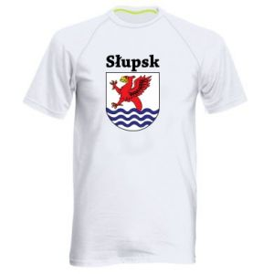 Męska koszulka sportowa Słupsk. Herb