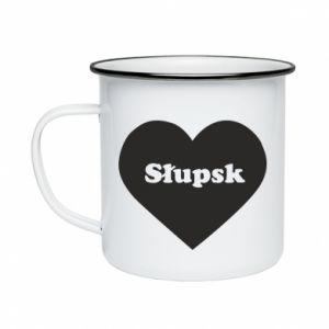 Enameled mug Slupsk in heart