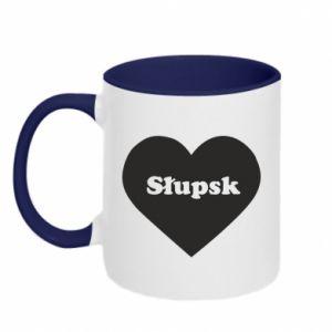 Kubek dwukolorowy Slupsk in heart - PrintSalon