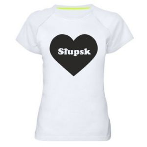 Women's sports t-shirt Slupsk in heart