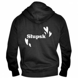 Men's zip up hoodie I love Slupsk!