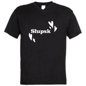Męska koszulka V-neck Słupsk kocham cię! - PrintSalon