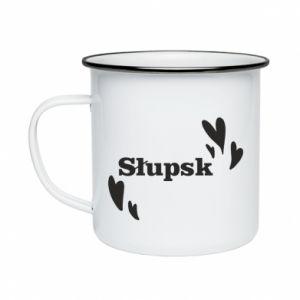 Enameled mug I love Slupsk!