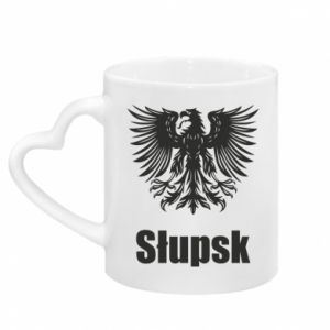 Mug with heart shaped handle Slupsk