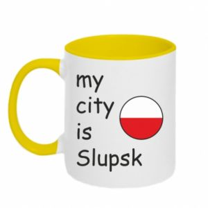 Kubek dwukolorowy My city is Slupsk