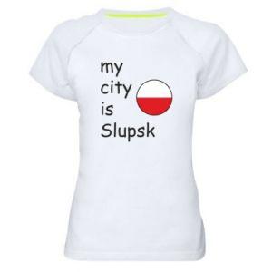 Koszulka sportowa damska My city is Slupsk