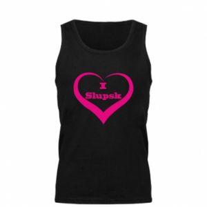 Męska koszulka I love Slupsk - PrintSalon