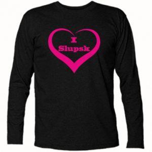 Koszulka z długim rękawem I love Slupsk - PrintSalon