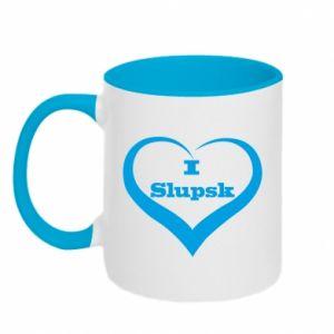 Kubek dwukolorowy I love Slupsk - PrintSalon