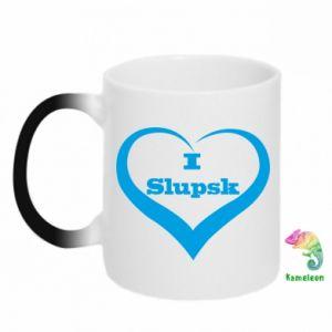 Kubek-kameleon I love Slupsk - PrintSalon