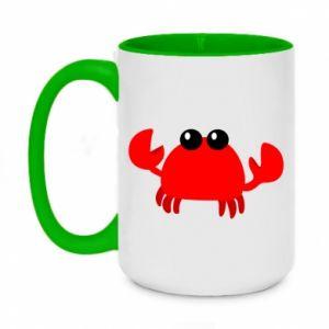 Kubek dwukolorowy 450ml Small pink crab