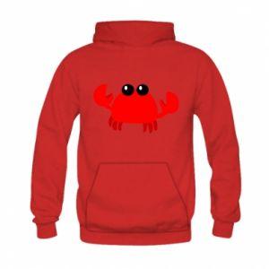 Bluza z kapturem dziecięca Small pink crab