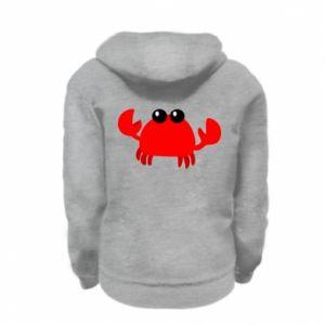 Bluza na zamek dziecięca Small pink crab