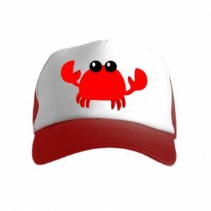 Czapka trucker dziecięca Small pink crab
