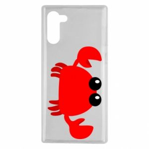 Etui na Samsung Note 10 Small pink crab